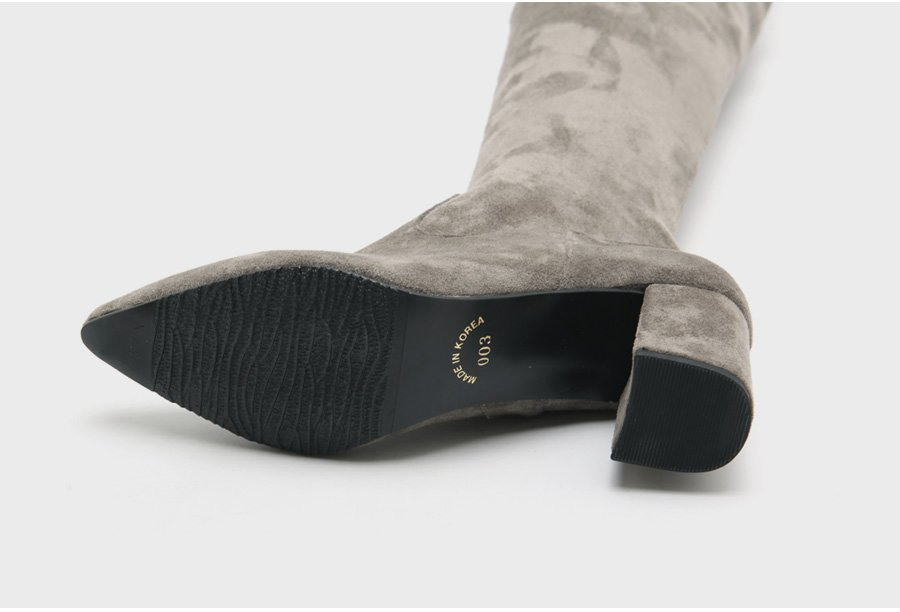 Boots Nữ Cổ Cao Da Lộn 7cm - GB1282