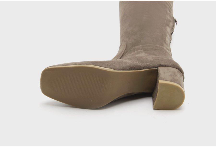 Boots Nữ Cổ Cao Da Lộn Hàn Quốc 5,5cm - GB1285